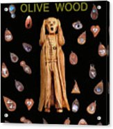 Scream Olive Wood Acrylic Print by Eric Kempson
