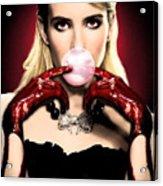 Scream Queen's - Chanel Oberlin Acrylic Print