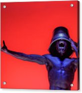 Screaming Dancer On Red Acrylic Print
