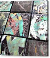 Screen Printed Glass Tiles Acrylic Print