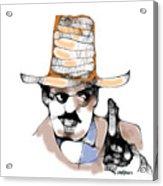Scribbler Cowboy Acrylic Print