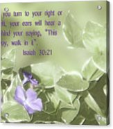 Scripture In Pastle Floral Acrylic Print by Linda Phelps