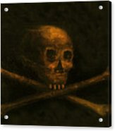 Scull And Crossbones Acrylic Print