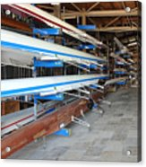 Sculling Shells On Racks Acrylic Print