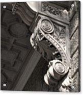 Sculpted Balcony Bracket Budapest Acrylic Print