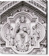 Sculpture Above North Entrance Of Westminster Abbey London Acrylic Print