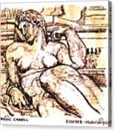 Sculpture at the Medici Chapel Acrylic Print