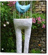 Sculpture Birds Cage And Legs Acrylic Print