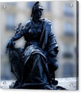 Sculpture In Front Of Orsay Museum Paris France Acrylic Print