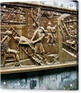 Sculpture Torture At Hoa Lo Prison Hanoi Acrylic Print