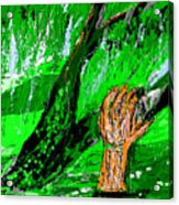 Sculptured Falling Tree Acrylic Print