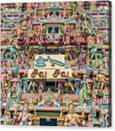 sculptures on Arulmigu Kapaleeswarar Temple, Chennai, Tamil Nadu Acrylic Print