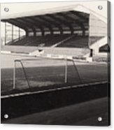 Scunthorpe United - Old Showground - East Stand 1 - Bw - 1960s Acrylic Print