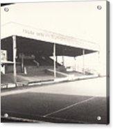 Scunthorpe United - Old Showground - Main Stand 1 - Bw - 1960s Acrylic Print