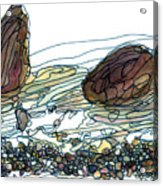 Sea And Rocks Landscape Acrylic Print