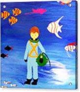 Sea Diver Acrylic Print