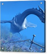 Sea Dragon And Anchor Acrylic Print
