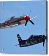 Sea Fury And Bearcat Acrylic Print