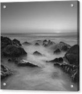Sea Girt Nj Sunrise Bw Acrylic Print