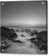 Sea Girt Nj Sunrise Version 2 Bw Acrylic Print