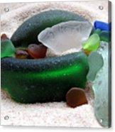 Sea Glass From Bermuda Acrylic Print