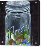 Sea Glass Jar Acrylic Print