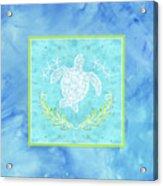 Flamingo Beach 1 - Turtle With Starfish  Acrylic Print