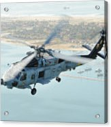 Sea Hawk Helicopter Flies Over  San Diego Acrylic Print