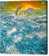 Sea In Action Acrylic Print