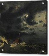 Sea In The Moonlight Acrylic Print