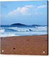 Sea Meets Beach Acrylic Print