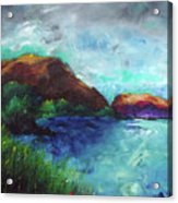 Sea Of Galilee And Mt Arbel Acrylic Print