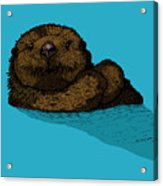 Sea Otter - Full Color Acrylic Print