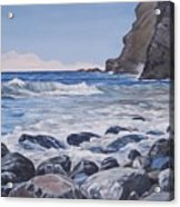 Sea Pounded Stones At Crackington Haven Acrylic Print