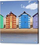 Seaside Beach Huts Acrylic Print