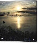 Sea Smoke At Sunrise Acrylic Print