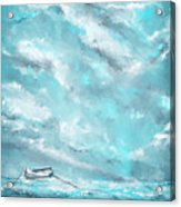 Sea Spirit - Teal And Gray Art Acrylic Print