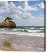 Sea Stack Sculpted Like A Ship Riding The Waves Acrylic Print