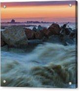 Sea Storm At Sunset Acrylic Print