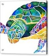Sea Turtle Celebration 4 Prints Only Acrylic Print