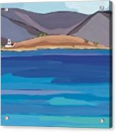 Sea View And Chapel Acrylic Print