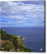 Sea View From Taormina Acrylic Print