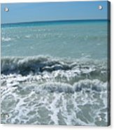 Sea Waves In Italy Acrylic Print