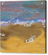 Sea.breeze.wet Sand. Acrylic Print