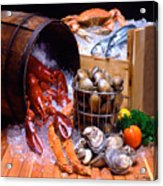 Seafood Fresh Acrylic Print by Vance Fox