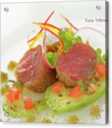 Seafood Tuna Yellow Fin Maldives Acrylic Print