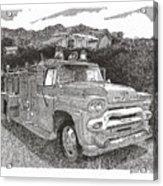 Seagrave Gmc Firetruck Acrylic Print