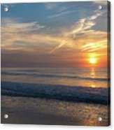 Seagull Sunrise Along The Jersey Shore Acrylic Print