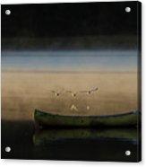 Seagulls Over Maquoit Bay,brunswick Me Acrylic Print