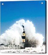 Seaham Storm Acrylic Print